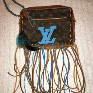 Vintage Louis Vuitton Wristlet Custom Fringed